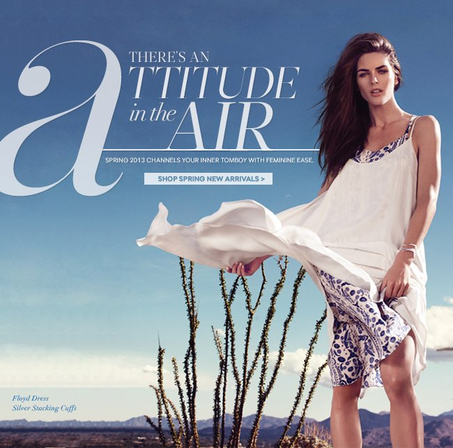 There's an Attitude in the Air: Spring 2013 channels your inner tomboy with feminine ease.
