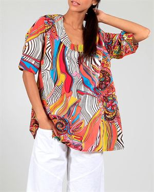 Aller Simplement Multicolor Floral Print Embellished Tunic