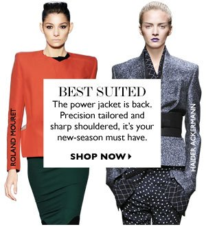 BEST SUITED- THE POWER JACKET IS BACK