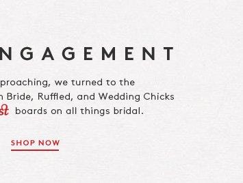 Wedding season's on the horizon! Shop bridal picks from bloggers Brooklyn Bride, Ruffled, and Wedding Chicks.