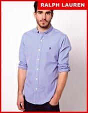 Polo Ralph Lauren Shirt In Stripe Poplin