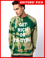 Vintage Sweat with Get Rich Print