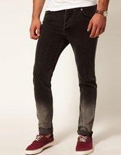 ASOS Skinny Jeans In Dip Dye