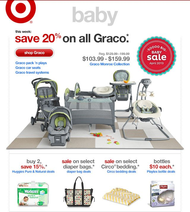 This week:SAVE 20% ON ALL GRACO.*