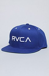 The RVCA Twill Snapback in Royal