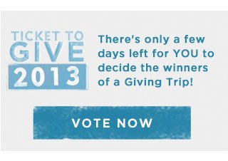 Ticket to Give 2013 - Vote Now