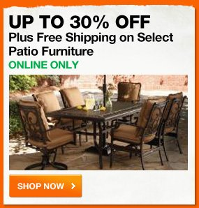Up to 30% OFF plus FREE shipping on select patio furniture