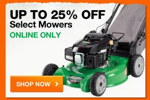 Up to 25% OFF select mowers