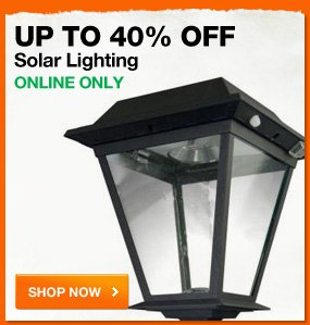 Up to 40% OFF solar lighting