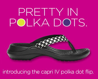 Pretty In Polka Dots. introducing the capri IV polka dot flip.