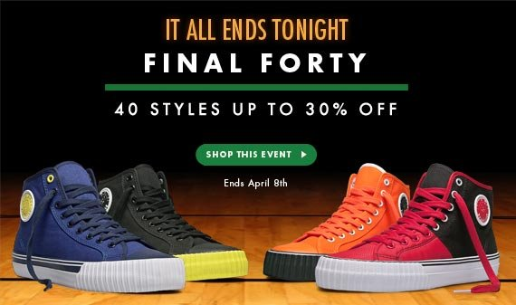 Final Forty - 40% Styles Up to 30% Off