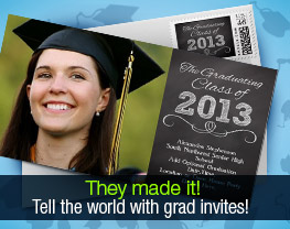 They made it! Tell the world with grad invites!