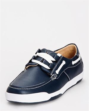 Pelle Pelle Leather-Lined Boat Shoe
