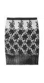 Basia Cotton-Lace Pencil Skirt