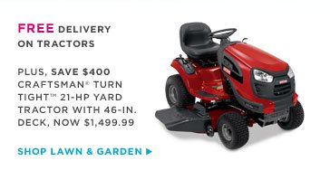 FREE DELIVERY ON TRACTORS | SHOP LAWN & GARDEN