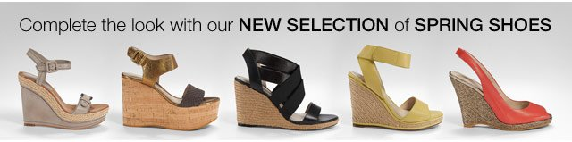 Complete the look with our New Selection of Spring Shoes