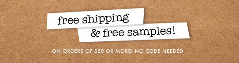 free shipping and free samples