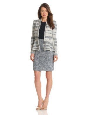 Rebecca Taylor <br/> Basketweave Tweed and Chain Jacket