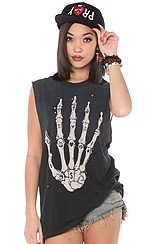 The Skullhand Tee in Black