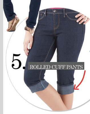 Top 5 Trending Details - Rolled Cuff Pants! Shop NOW!
