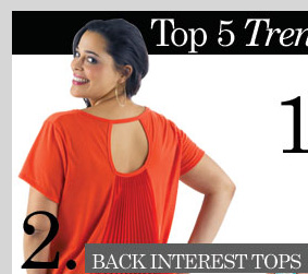 Top 5 Trending Details - Back Interest Tops! Shop NOW!