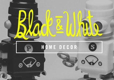 Shop Black & White: Home Decor