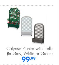 Calypso Planter with Trellis (in Grey, White or Green) 99.99