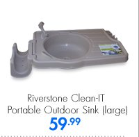 Riverstone Clean-IT Portable Outdoor Sink (large) 59.99
