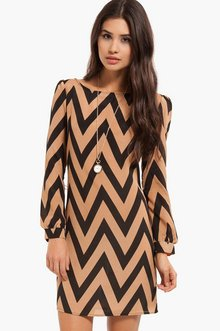 Zig Zag Shift Dress $37