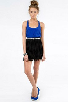 My Fringe Mini Skirt $30