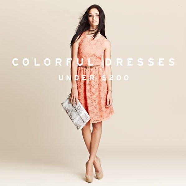 COLORFUL DRESSES UNDER $200