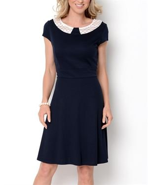 AA Studio Lace Collar A-Line Dress