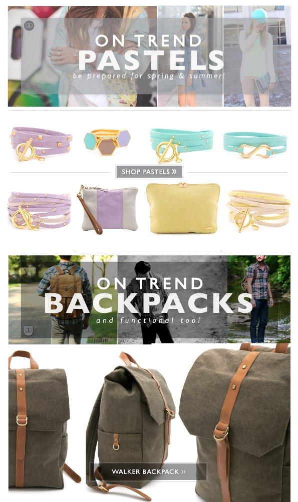 On Trend Pastels & Backpacks