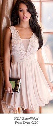 V I P Embellished Prom Dress