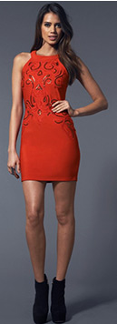 Sequin Halter Bodycon Dress