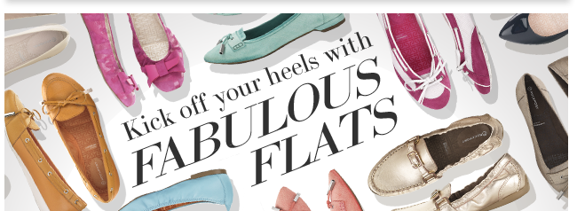 Kick off your heels with Fabulous Flats