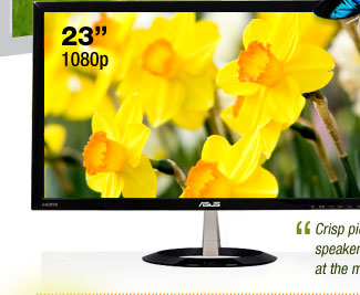 ASUS VX238H Black 23 inch 1ms (GTG) HDMI Widescreen LED Backlight LCD Monitor w/ Built-in Speakers