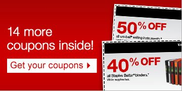 14 more  coupons inside! Get your coupons.