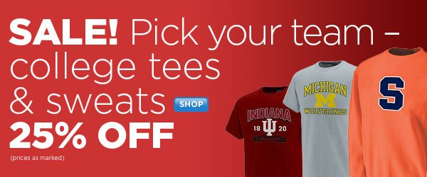 SHOP Collegiate SALE - 25% OFF