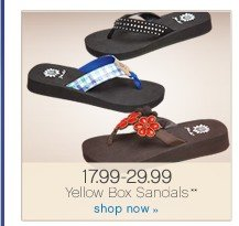 17.99-29.99 Yellow Box Sandals**. Shop now.