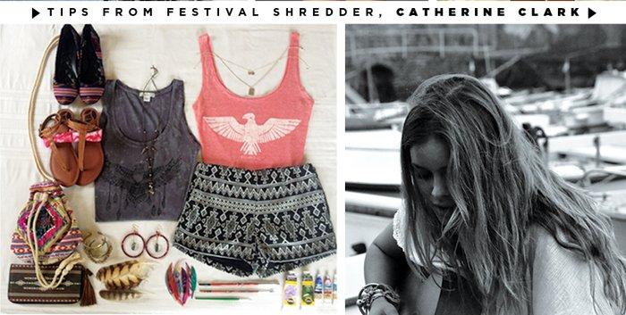 Tips from Festival Shredder, Catherine Clark