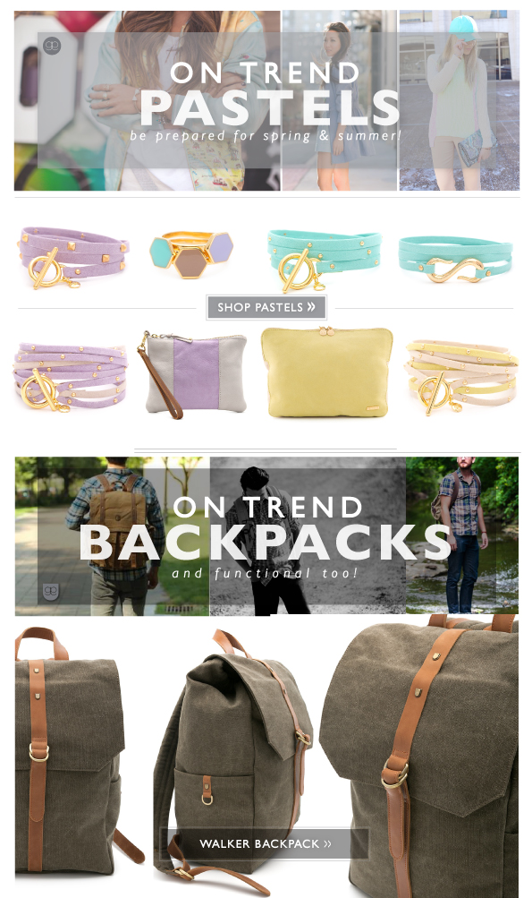 On Trend Pastels & Backpacks