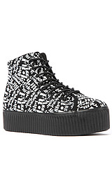The Hiya Words Sneaker in Black with White Words