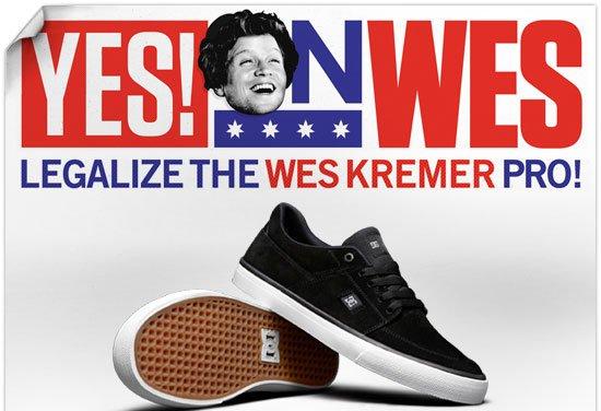 Yes on Wes. Legalize the Wes Kremer Pro.