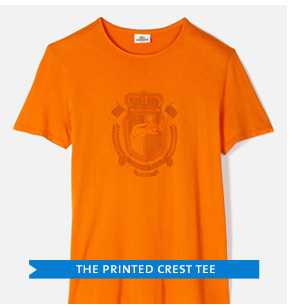 THE PRINTED CREST TEE