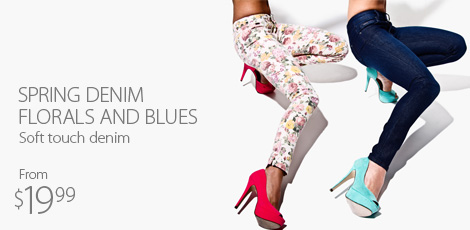Spring denim florals and blues