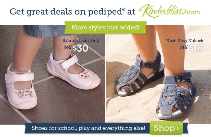 Get great deals on pediped shoes at Kinderbliss.com