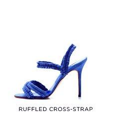 Ruffled Creoss-Strap