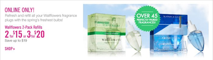 Wallflowers 2-Pack Refills - 2 for $15