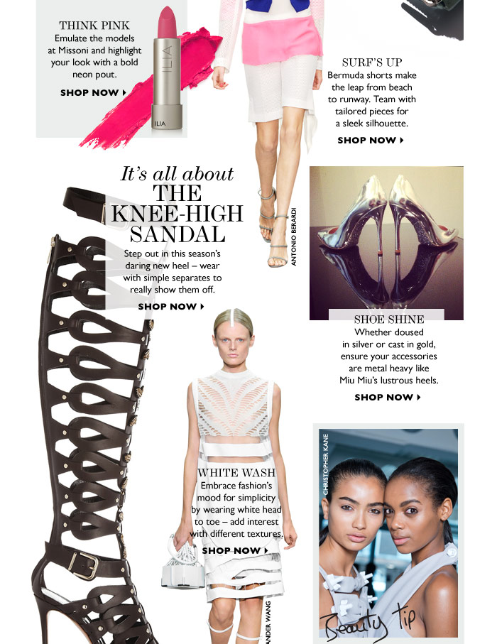 IT´S ALL ABOUT THE KNEE-HIGH SANDAL